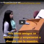 ESTUDIANTE DE 13 AÑOS DEFIENDE LA EXISTENCIA DE DIOS ANTE SU MAESTRA ATEA (video)