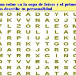 Sopa de letras con el significado de los colores- El color que halles dice mucho sobre tu personalidad