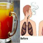 Bebida efectiva para restaurar los pulmones de fumadores!