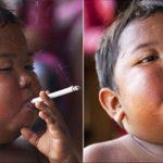 Niño que fumaba cigarrillos, 8 años más tarde se ve así!