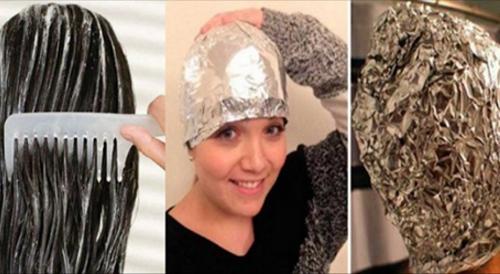 Pon en tu cabello papel de aluminio y la mezcla que les enseñaremos. Lo que luego suscederá te dejará sorprendida