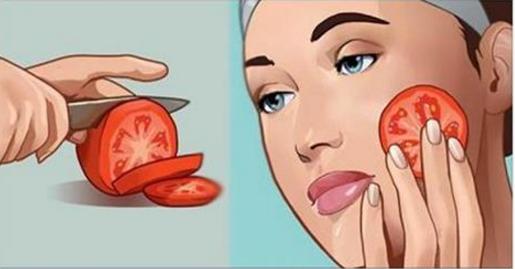 Frota un tomate fresco en tu cara y te sorprenderás de los resultados