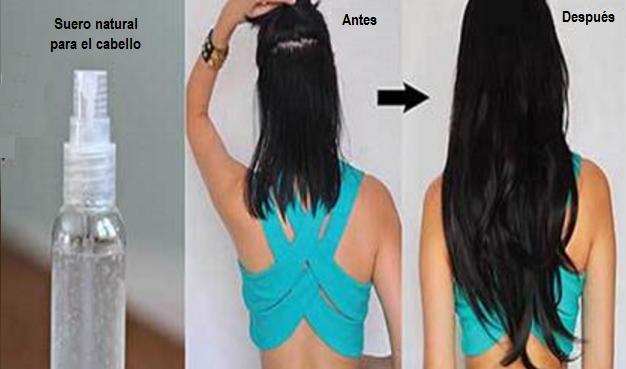 Este es el suero natural que hace crecer el cabello, usandolo crecerá 4 pulgadas cada mes