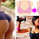 Estos son los mejores ejercicios para afirmar y aumentar los senos y los glúteos