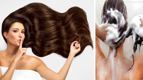 Ella tiene un cabello largo, brillante y hermoso porque lo lava con esta mascarilla