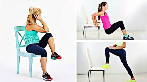 Solo necesitas una silla y estos ejercicios para que elimines toda la grasa del vientre