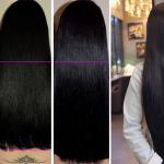 Ella tenía un cabello corto, pero le aplicó esto y en un mes obtuvo una melena muy larga