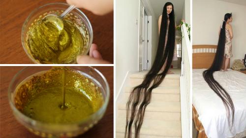Ella posee un cabello inmenso, esta receta es su secreto