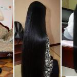 Ella tiene un cabello enorme porque aplica el gel de Sábila en su cabello
