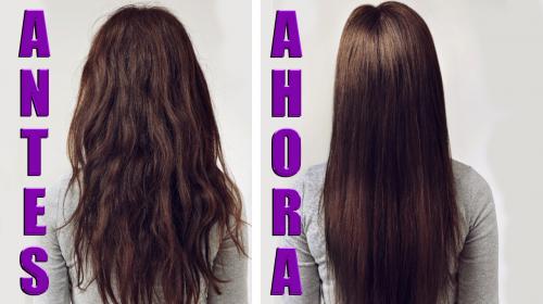 Tratamiento de alisado de cabello natural y económico