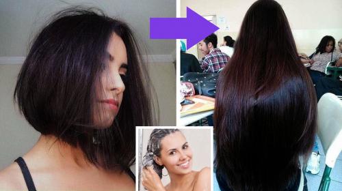 Ella alargó su cabello en muy poco tiempo porque lo empezó a lavar así