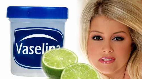 A la vaselina añadele zumo de limón y dile adiós a tus manchas y arrugas