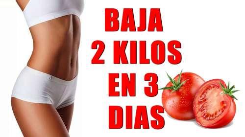 Baja 2 kilos en 3 dias gracias a la dieta del tomate