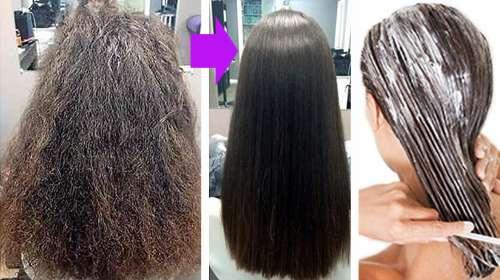 Mezcla que alisa por completo el cabello