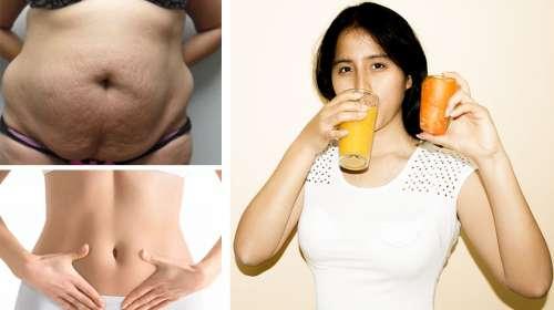 Bebiendo el jugo de zanahoria acabarás con la grasa abdominal