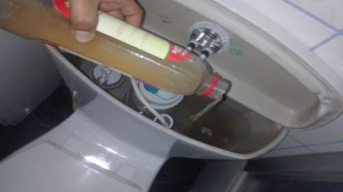 Aplica Vinagre de manzana en el inodoro y asombrate jalando la cadena