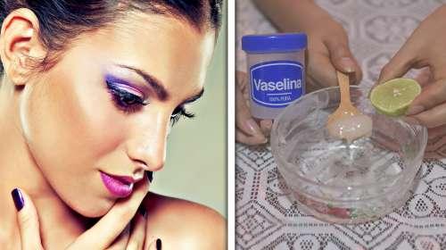 Aplica Vaselina con Limon 3 Noches Seguidas y todas envidiaran tu Rostro