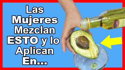 Solo Mezcla Aguacate con Aceite de Oliva y vas a Llorar de Alegría luego de Aplicartelo