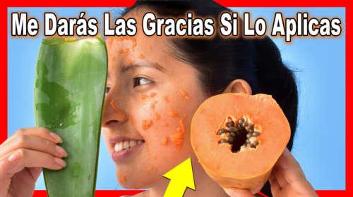 Me Apliqué la Mascarilla de Papaya con Áloe Vera y Hasta mis Amigas me Envidian ahora!